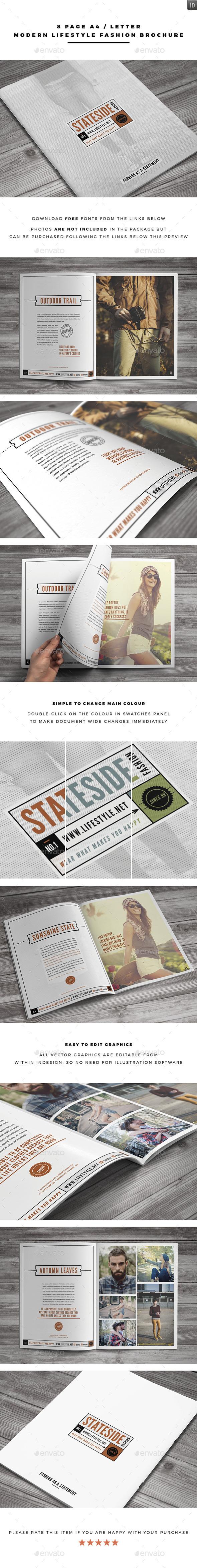 Modern Lifestyle Fashion Brochure - Brochures Print Templates