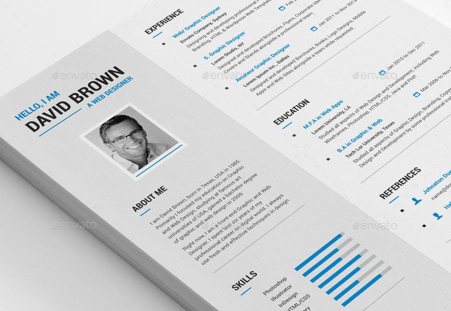 creative resume by mr design graphicriver