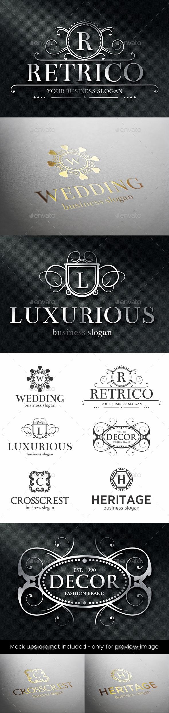 Luxurious Crest Logos - Badges & Stickers Web Elements