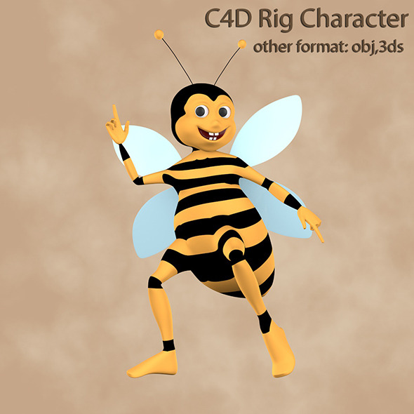 Bee Rigged Character - 3DOcean Item for Sale