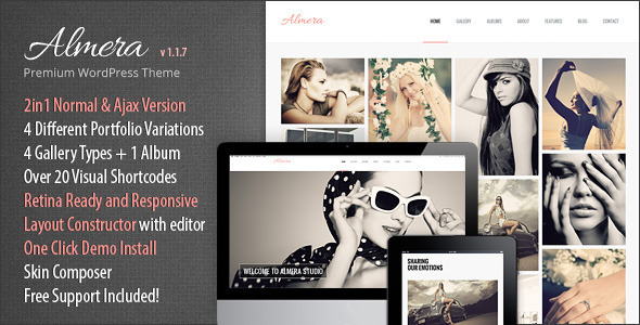 Almera | Modern Agency Portfolio WP Theme