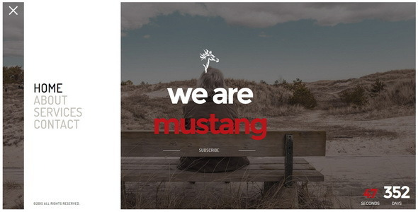 Mustang || Responsive Coming Soon Page