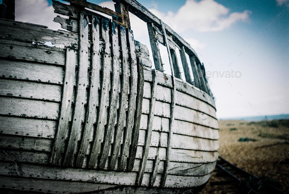 Abandoned Boat - Stock Photo - Images