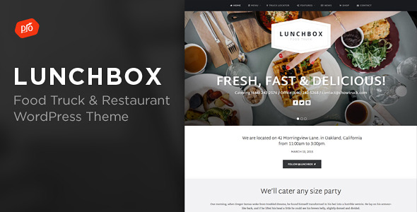 Lunchbox - Food Truck & Restaurant Theme