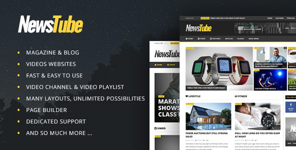 NewsTube – Magazine Blog & Video