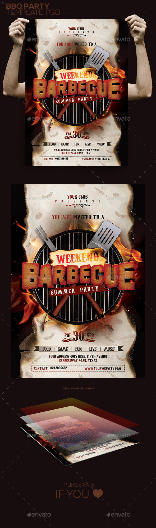 BBQ Flyer / Poster - Clubs & Parties Events