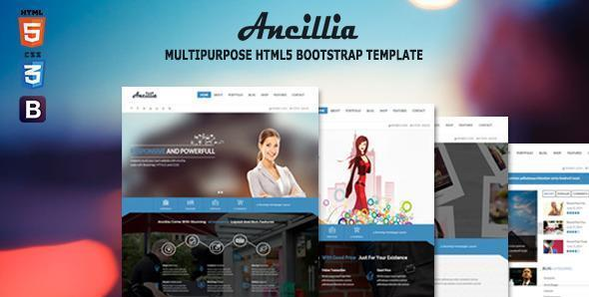 Ancillia Multipurpose HTML5 Bootstrap Template - Corporate Site Templates