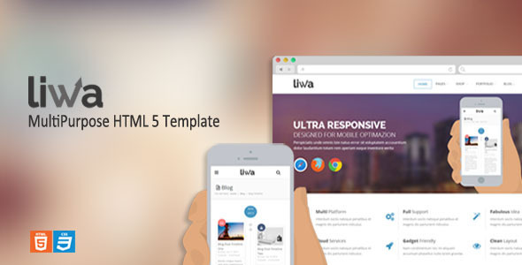 Liwa MultiPurpose HTML 5 Template - Corporate Site Templates