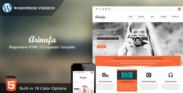 ArinaFA Corporate Wordpress Theme - Corporate WordPress