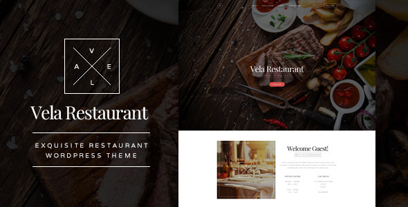 Vela – Exquisite Restaurant WordPress Theme