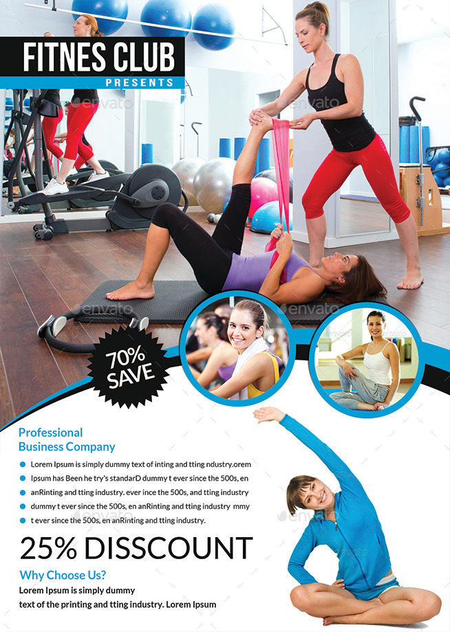 Fitness Flyer Templates By Afjamaal  Graphicriver
