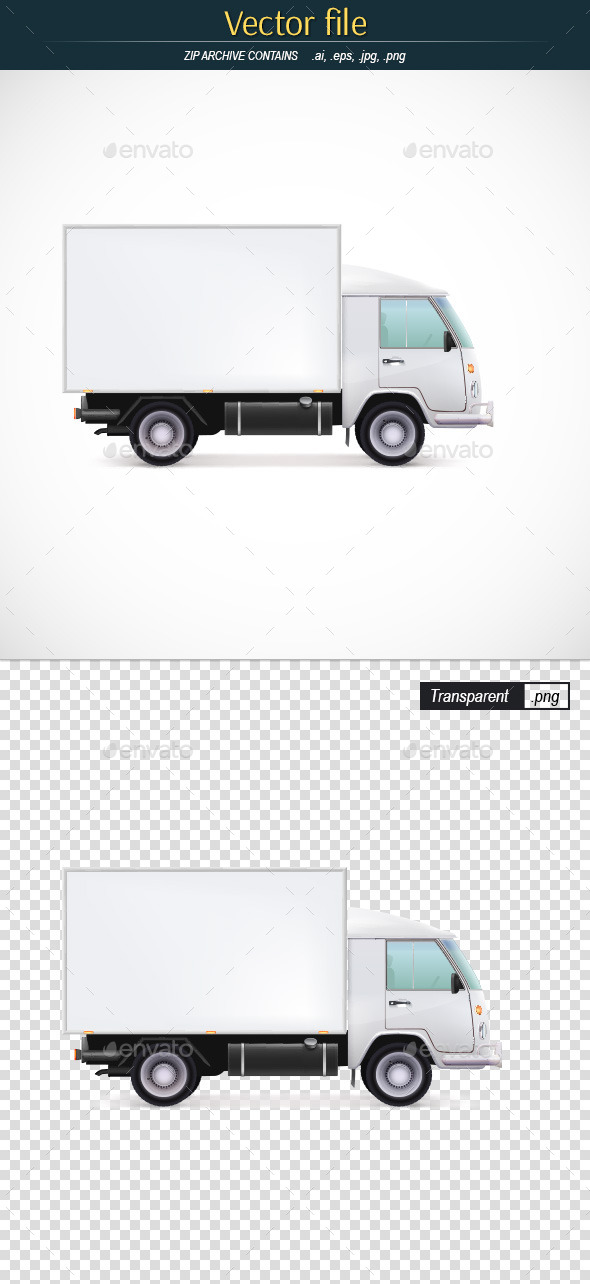 Delivery Van Vector Car Icon - Man-made Objects Objects