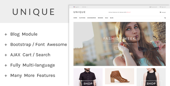 UniqueShop – Prestashop Theme