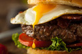 Homemmade Bacon Hamburger with Egg