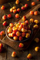Healthy Organic Rainier Cherries