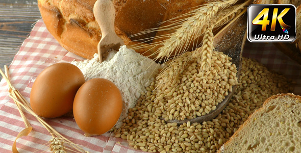 Bread Wheat Egg and Flour Concept 3