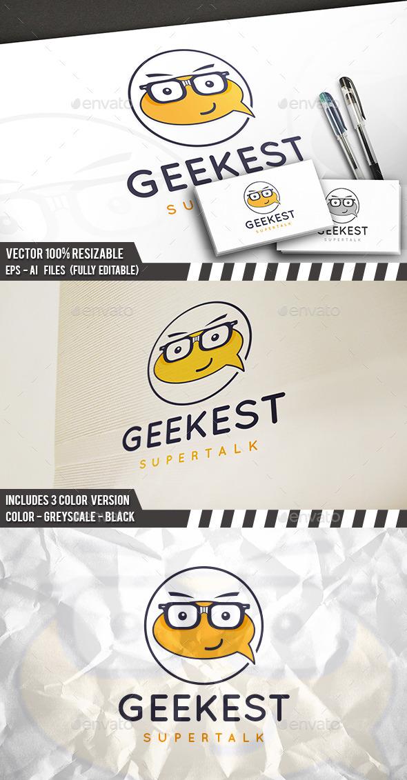 Geek Talk Logo Template - Humans Logo Templates