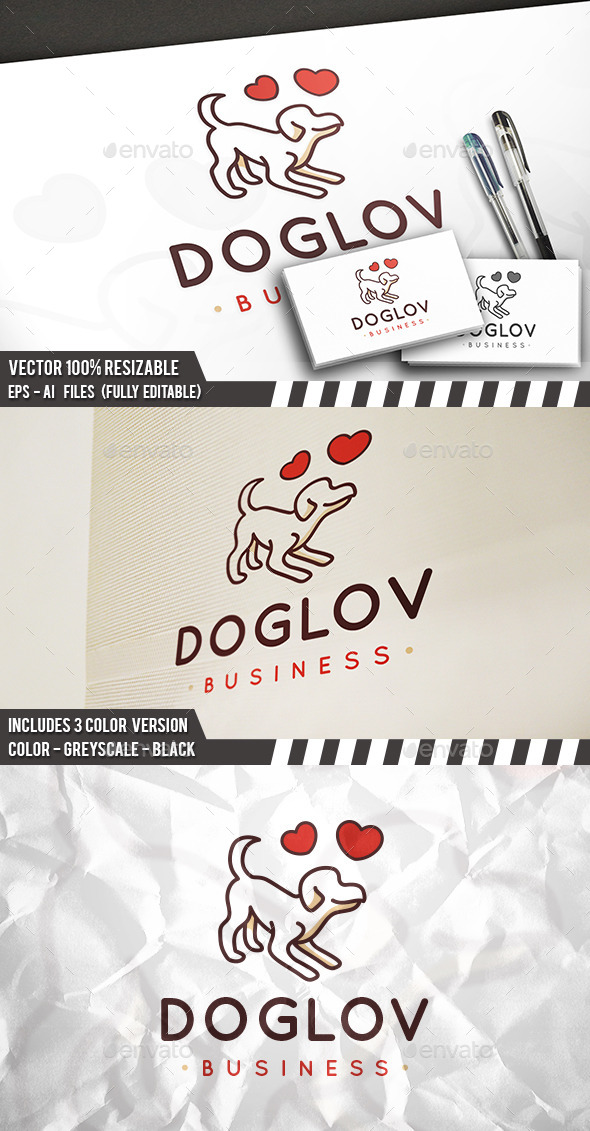 Dog Passion Logo - Animals Logo Templates