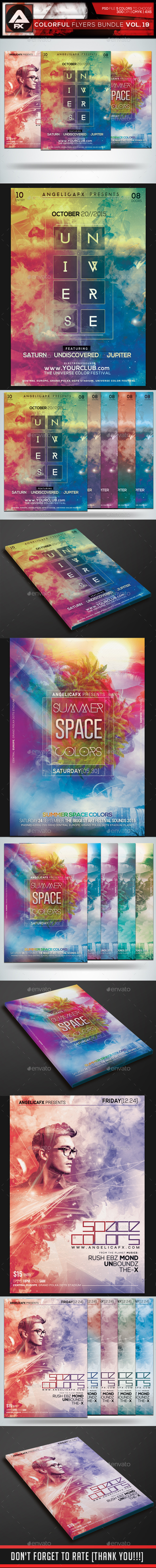 Colorful Flyers Bundle Vol.19 - Clubs & Parties Events