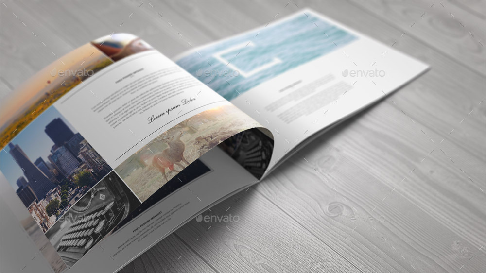 A4 Landscape Brochure Mock-Up By Webandcat | Graphicriver