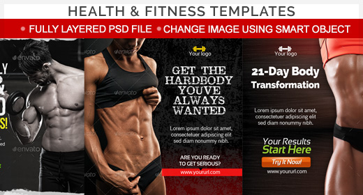Health & Fitness Template Collection