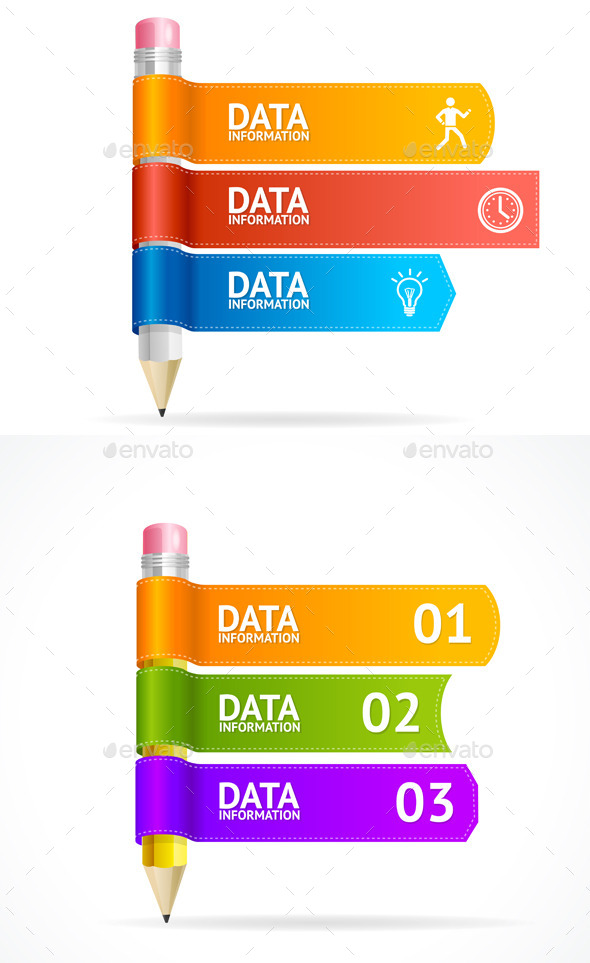 Vector Pencil for Text, Infographics  - Concepts Business