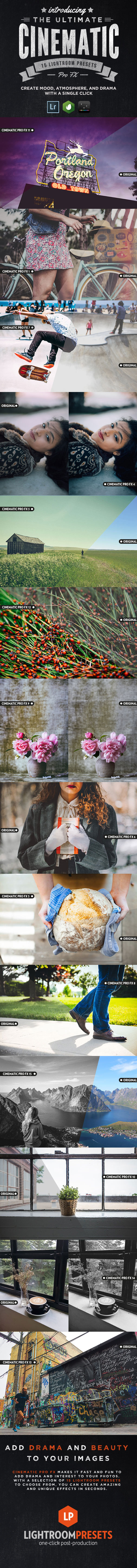 15 Cinematic Pro Fx Lightroom Presets - Cinematic Lightroom Presets