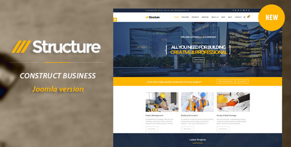 Structure – Construction VirtueMart Template