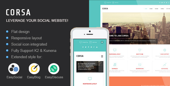 JSN Corsa – Leverage your social website