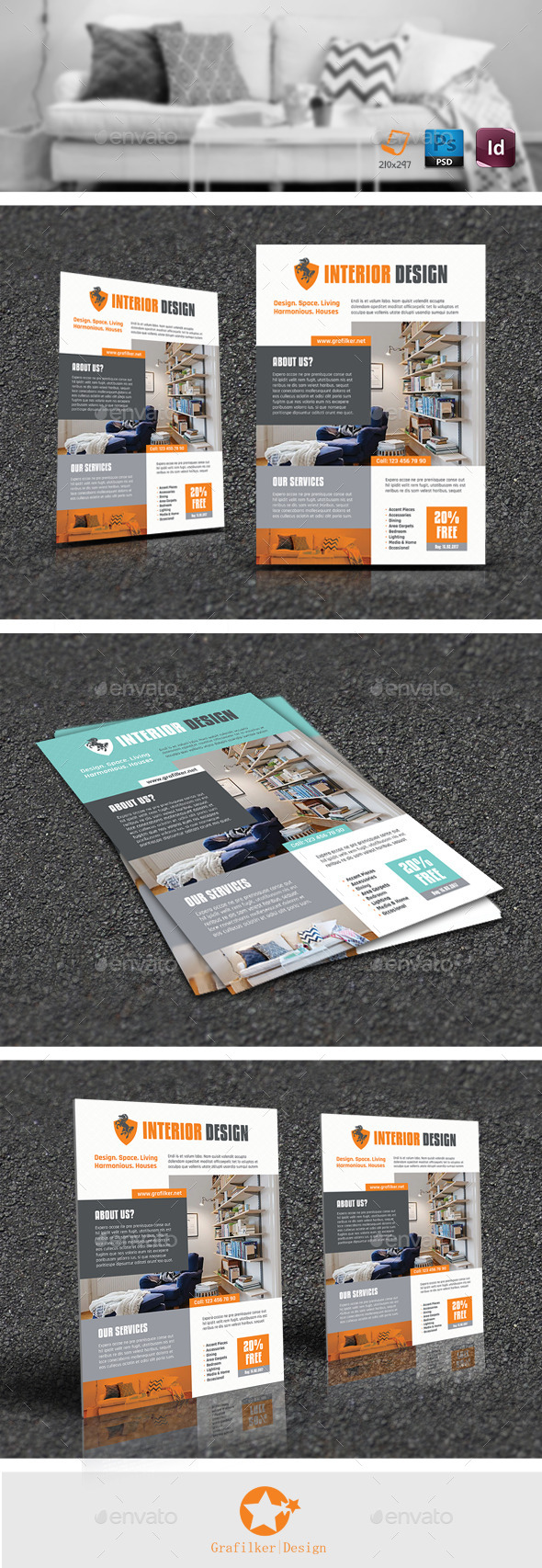 Interior Flyer Templates - Corporate Flyers