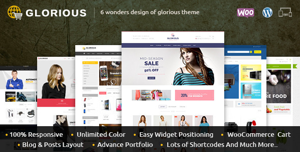 Glorious – WooCommerce Responsive Theme