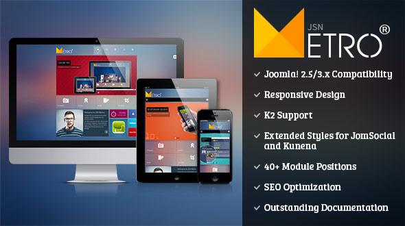 JSN Metro – Responsive Joomla Creative Template