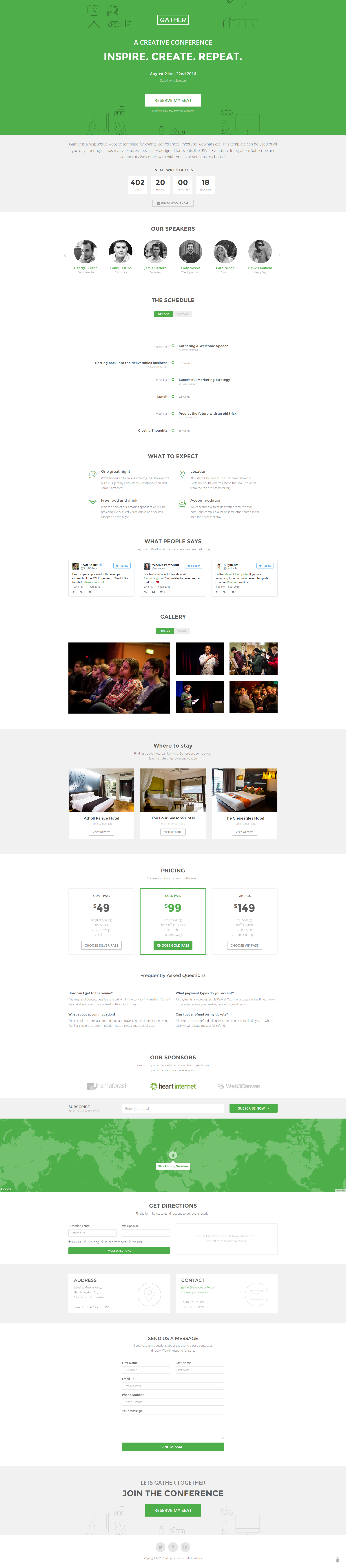 Event Landing Page Template Gather
