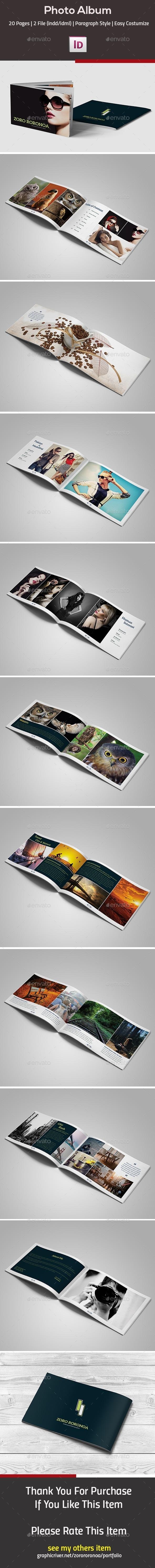 InDesign Photo Album - Photo Albums Print Templates