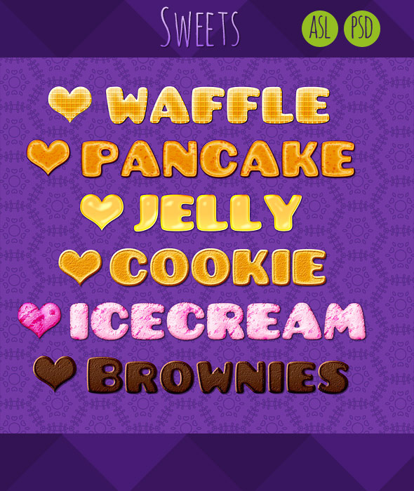 6 Sweets Text Syles - Text Effects Styles
