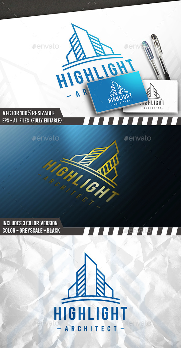 Highlight Logo - Buildings Logo Templates