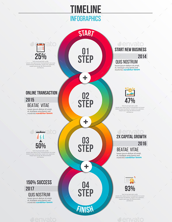Timeline Infographics Design - Infographics