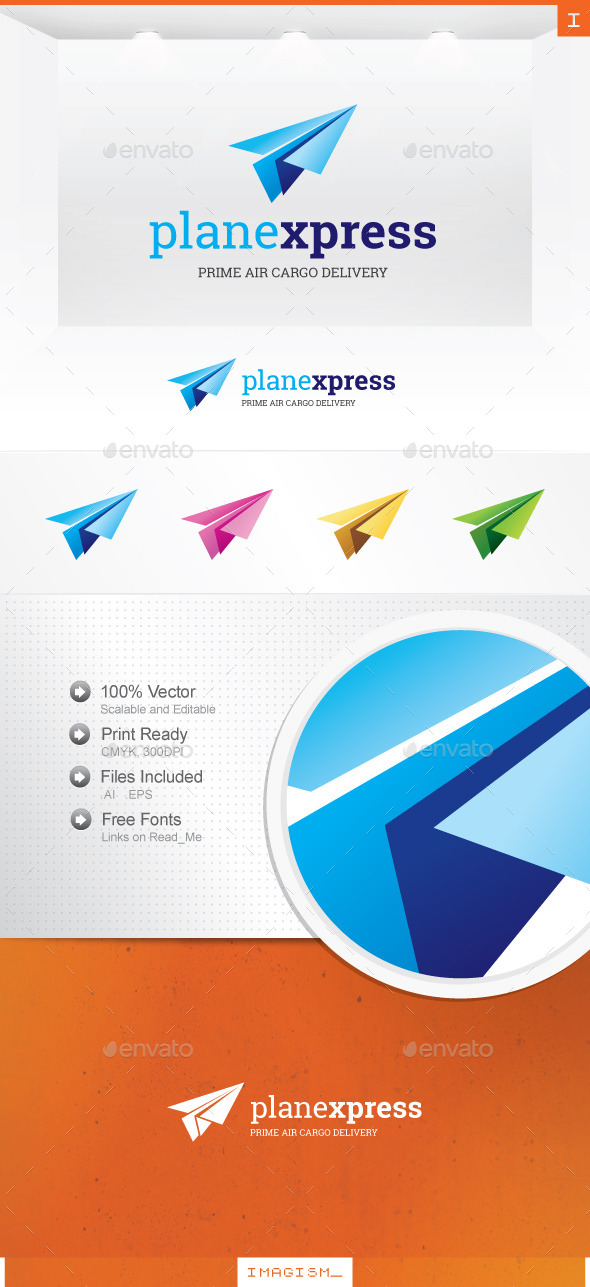 Plane Express Logo - Symbols Logo Templates
