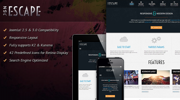 JSN Escape - Responsive Joomla Multipurpose Theme