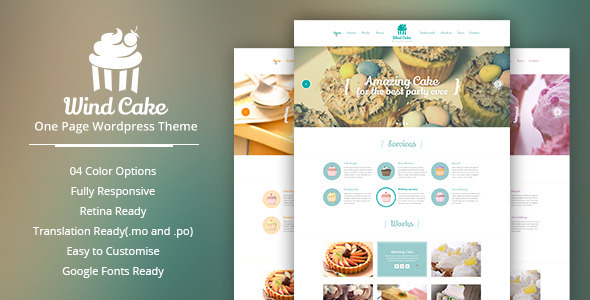 WindCake – OnePage WordPress Theme