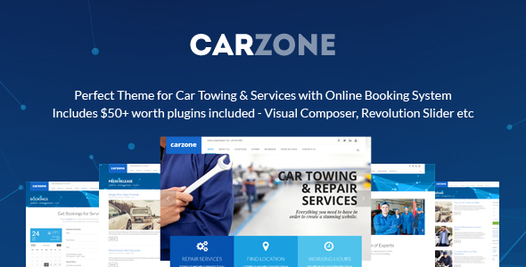 Car Zone – Towing & Repair WordPress Theme