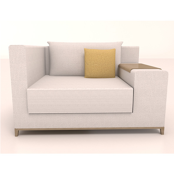 Single sofa - 3DOcean Item for Sale