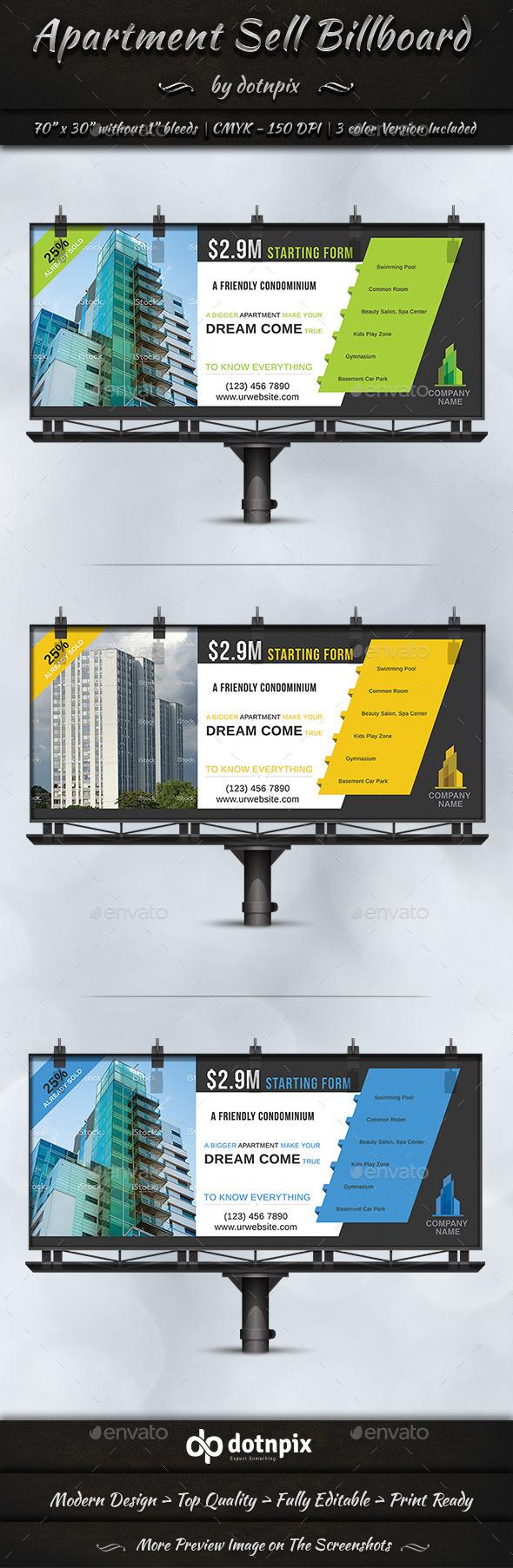 Apartment Sell Billboard - Signage Print Templates