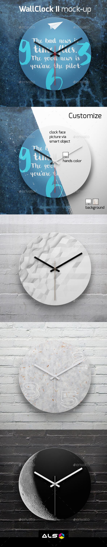 Wall Clock II Mock-up - Miscellaneous Product Mock-Ups