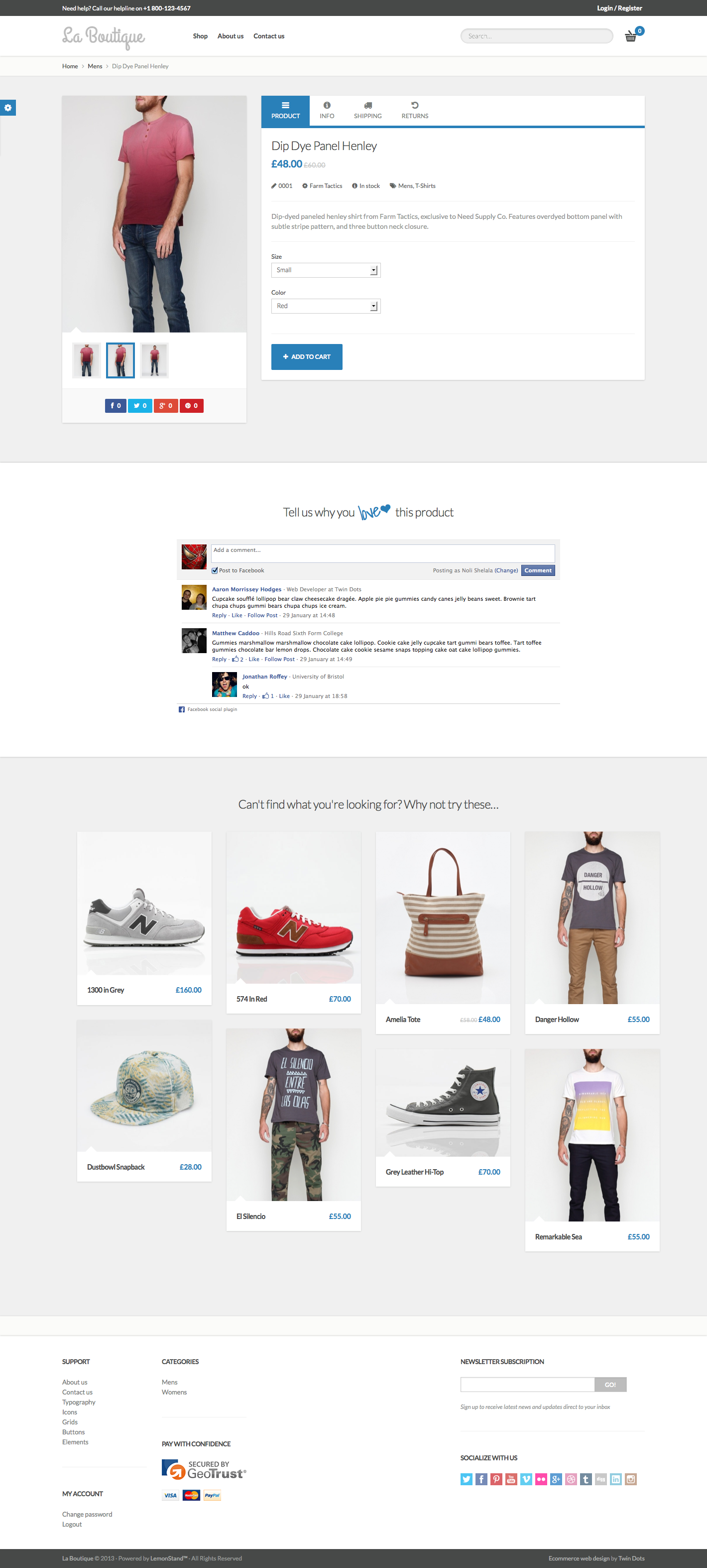 e7f55789d72 La Boutique • Responsive eCommerce Template by Tfingi