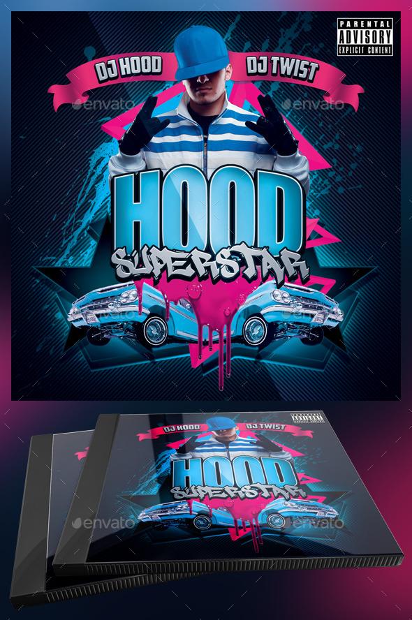 Hood Superstar CD Cover Template - CD & DVD Artwork Print Templates