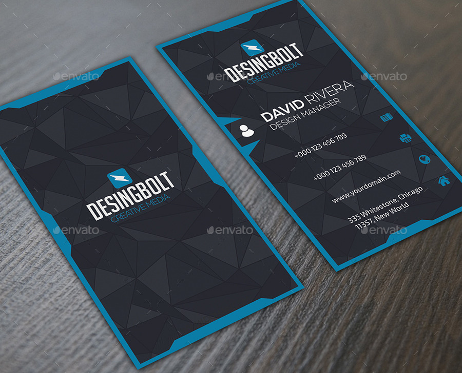 Bundle creative blue business cards by infenixx graphicriver bundle creative blue business cards reheart Image collections
