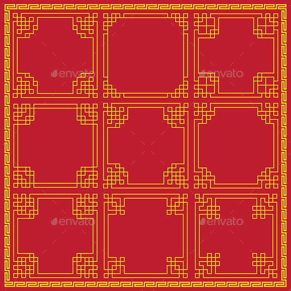 Chinese Decorative Frames - Borders Decorative