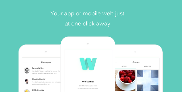HTML Front-end Mobile App/Web Template