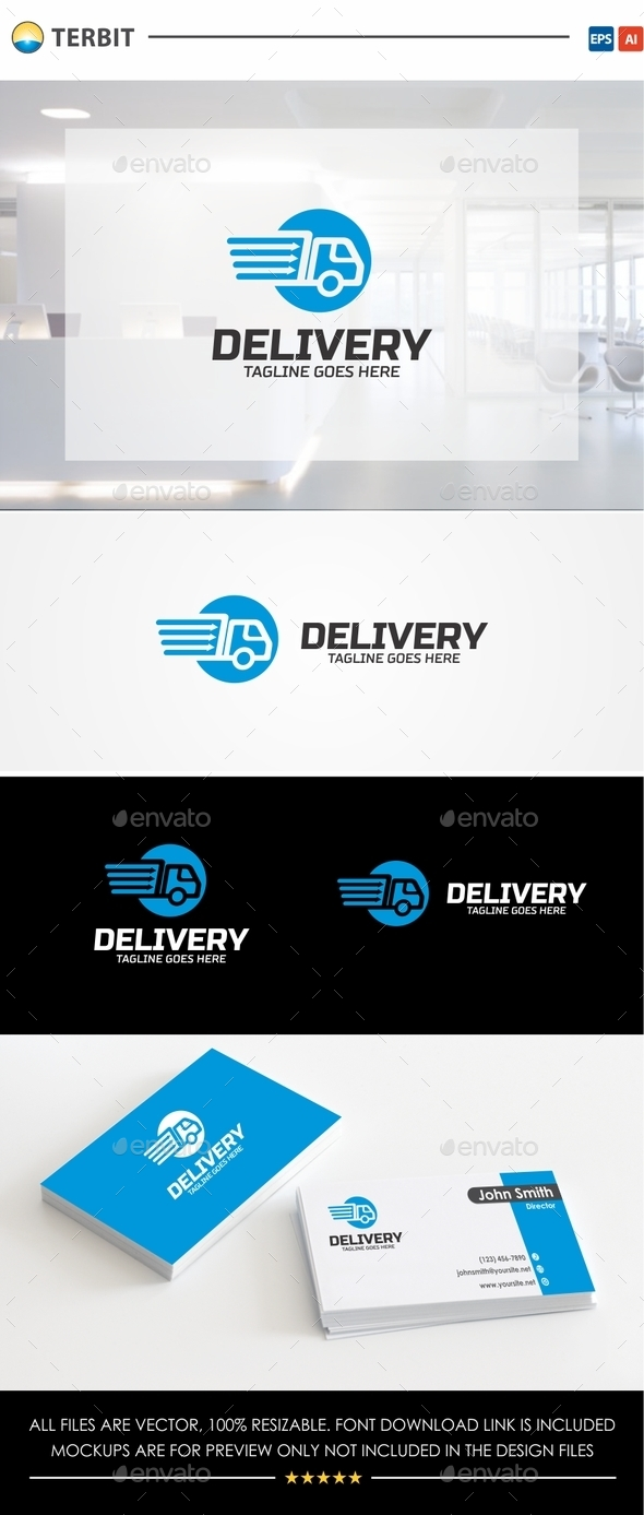 Delivery Logo - Objects Logo Templates